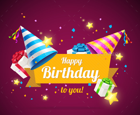 design birthday card with photo free ; Colorful-Background-Birthday-Card-Template-Free-Download