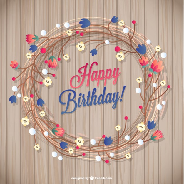 design birthday card with photo free ; floral-birthday-card_23-2147490574