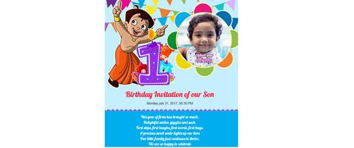 design birthday invitation cards online free india ; Thumb-1st-birthday-indian-82