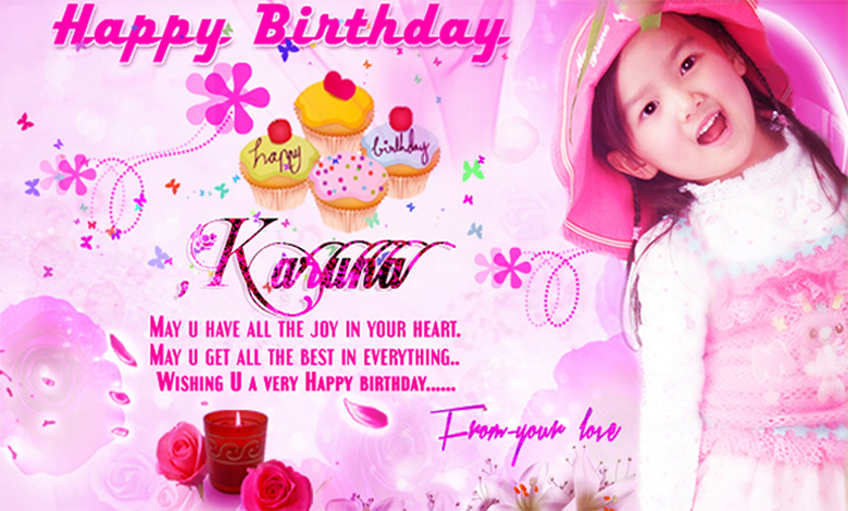 design invitation card for birthday ; best-inspire-birthday-invitation-cards-design-real-photo-little-girls-pink-concept-color-display-magnificent-template