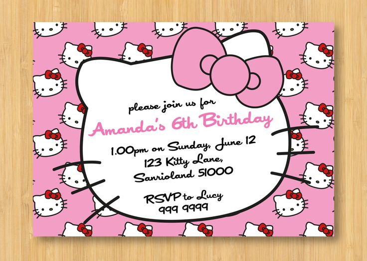 design your own birthday invitation cards free ; Charming-Hello-Kitty-Birthday-Invitations-To-Make-Free-Birthday-Invitations