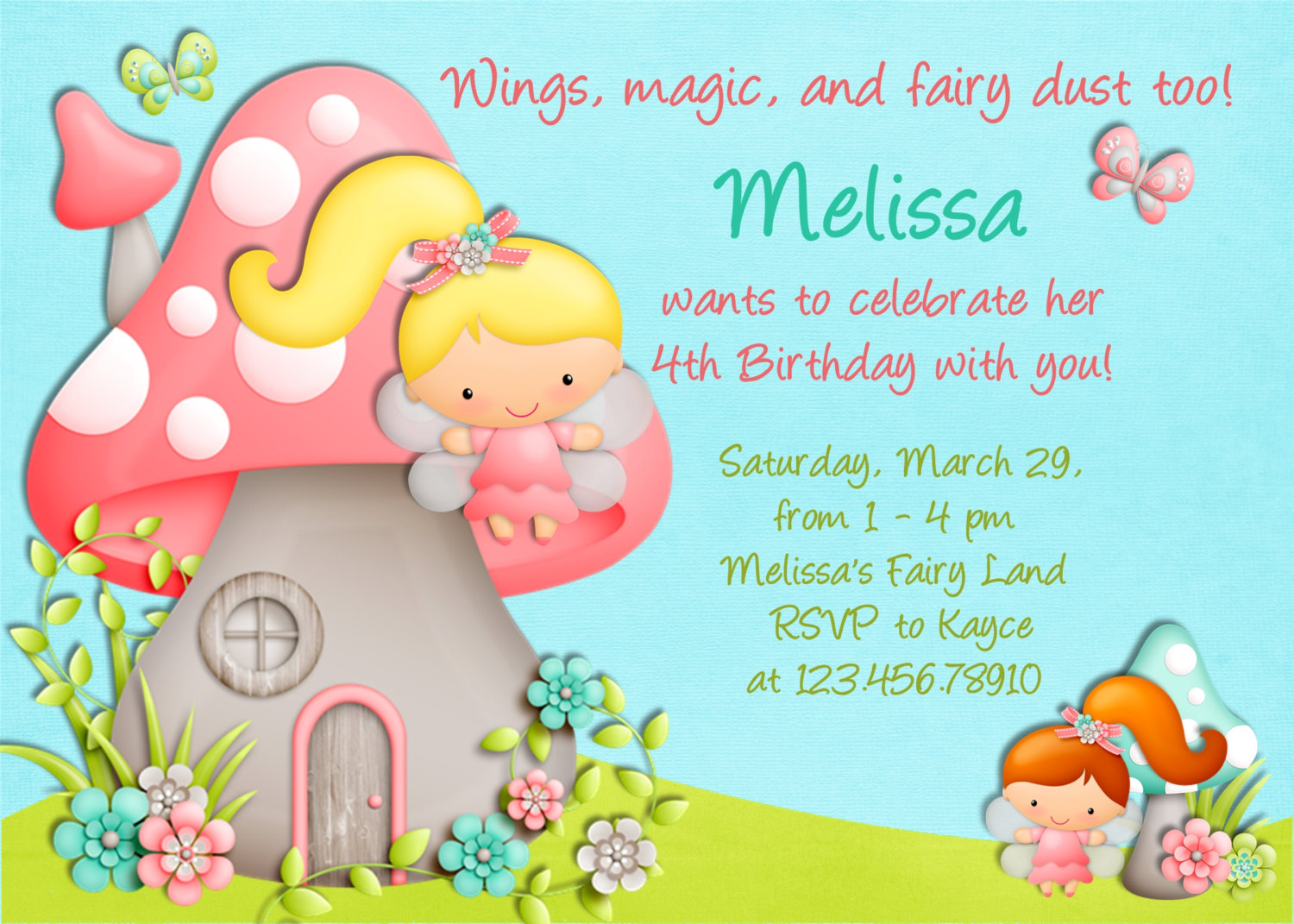 designs for invitation cards birthday ; awesome-sample-invitation-card-for-birthday-mushroom-house-template-designing-picture-decoration-cute-colorful-wording