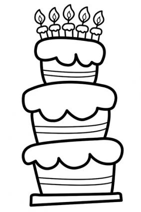 drawing birthday party ideas ; 154012-283x425-cake