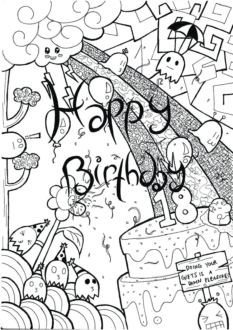 drawing birthday party ideas ; coloring-birthday-party-drawing-ideas-photos-high-quality-mobile-book-themed