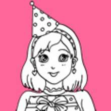 drawing birthday party ideas ; vign-cumple-nina-colorear-d58_6z4