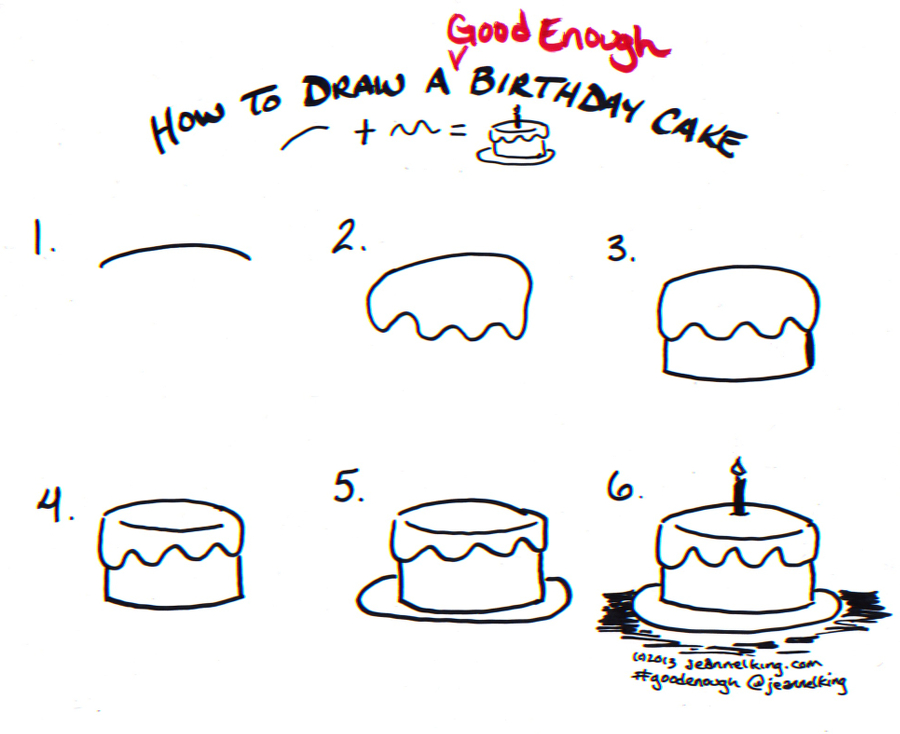 easy birthday drawings ; GoodEnough-BirthdayCake