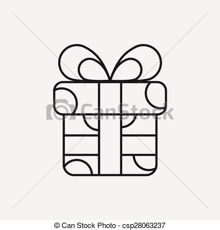 easy birthday drawings ; birthday-present-line-icon-eps-vectors_csp28063237