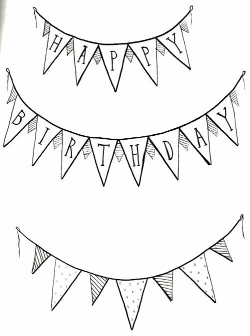 easy birthday drawings ; birthdaybannersWEB