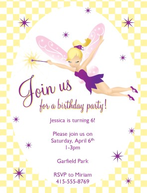 fairy themed birthday invitation ; img_large_watermarked