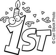first birthday clipart ; -image_csp23542076