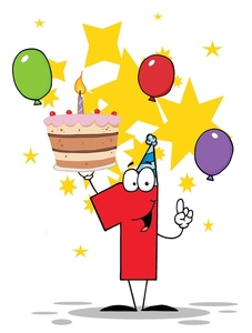 first birthday clipart ; babys_first_birthday_with_birthday_cake_and_balloons_0521-1004-3015-0918_SMU