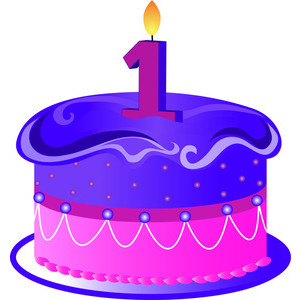 first birthday clipart ; first-birthday-cake-clipart-1