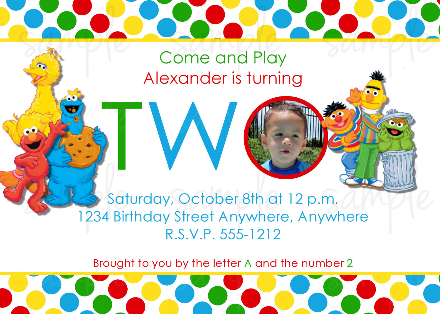 first birthday invitation card design ; Astounding-Sesame-Street-1St-Birthday-Invitations-For-Additional-Birthday-Party-Invitations