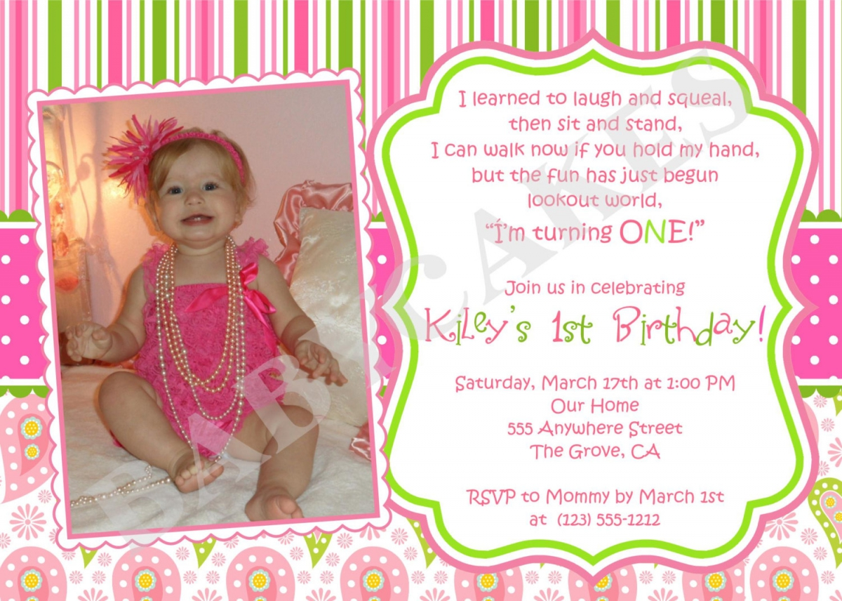 first birthday invitation card design ; Cozy-First-Birthday-Invitations-As-Birthday-Invitation-Cards