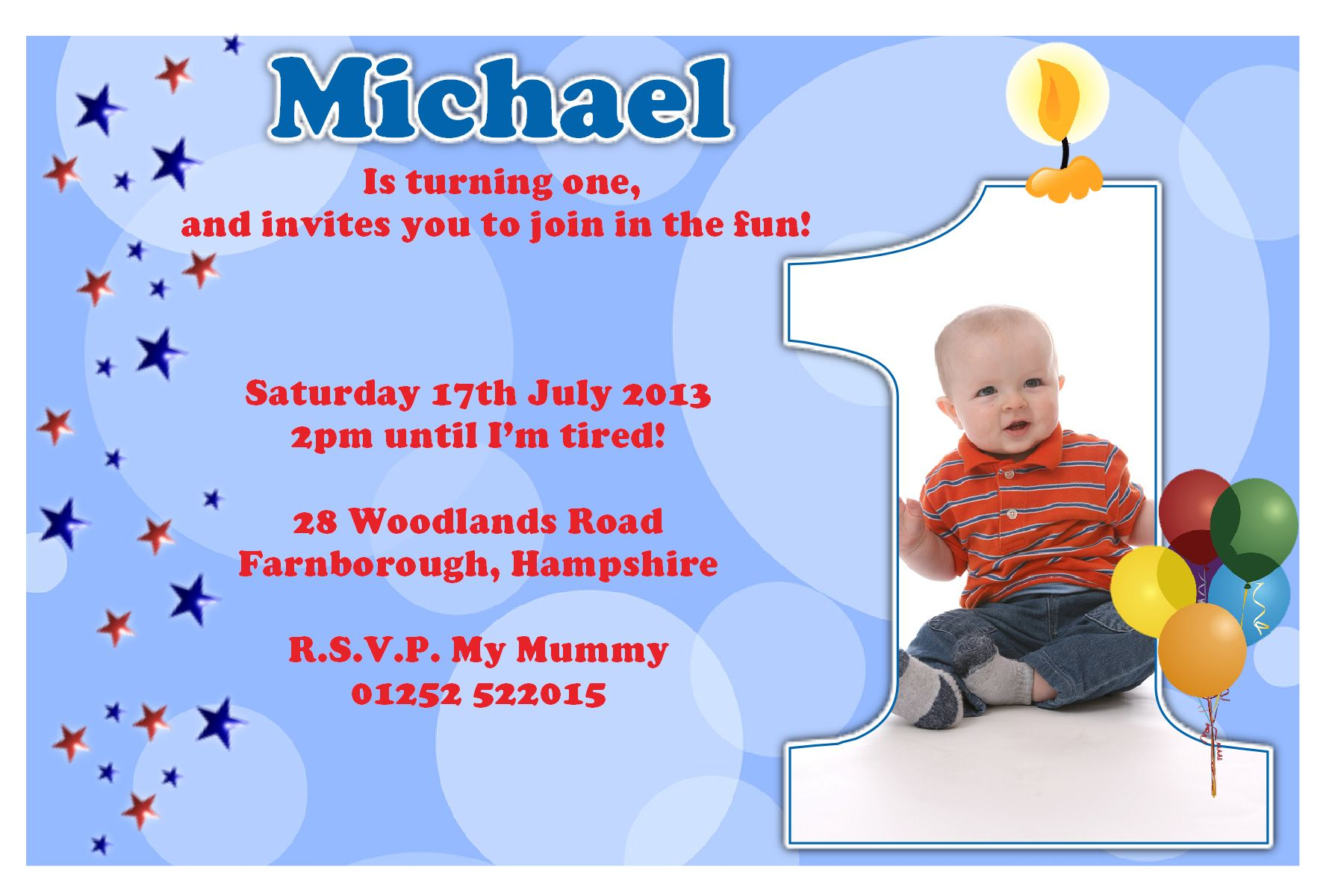 first birthday invitation card design ; birthday-first-birthday-party-invitation-idea-for-little-boys
