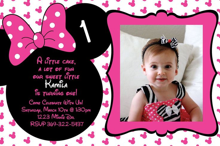 first birthday invitation cards designs free ; Minnie-Mouse-Birthday-Invitations-Diy
