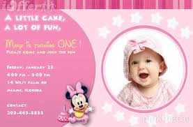 first birthday invitation cards designs free ; cute-sample-first-birthday-invitation-cards-modern-designing-rectangular-shape-pink-background-real-picture-baby-party