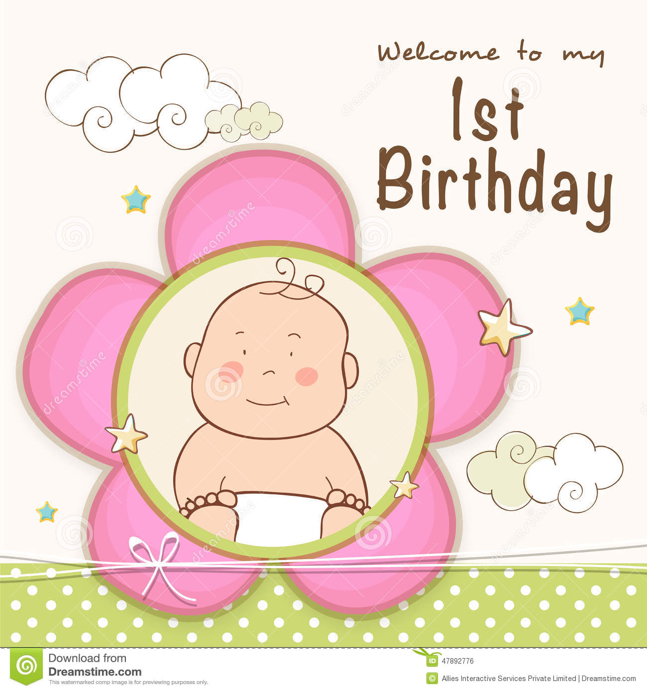 first birthday invitation cards designs free ; st-birthday-invitation-card-design-kids-celebration-cute-baby-47892776