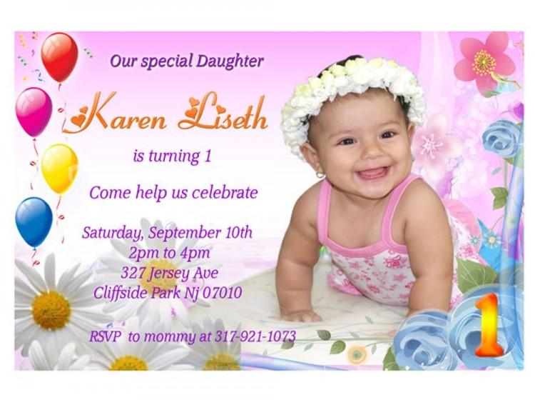 first birthday invitation cards designs india ; 1st-birthday-party-invitations-girl-as-an-additional-inspiration-to-create-easy-to-remember-Birthday-Invitation-4