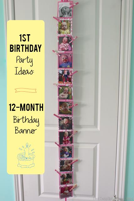 first birthday monthly photo banner ; 1st-Birthday-12-Month-Banner
