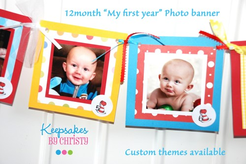 first birthday monthly photo banner ; 1st-year-birthday-banner-custom-12-month-photo-birthday-banner-first-birthday-any-theme