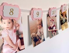 first birthday monthly photo banner ; 7547032abdf9f6bd1910ba7384683214--glitter-birthday-glitter-party