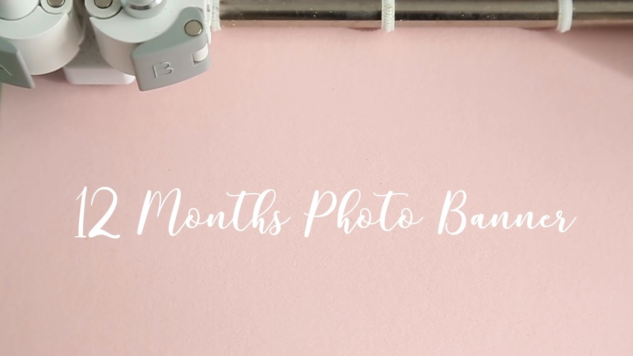 first birthday monthly photo banner ; maxresdefault