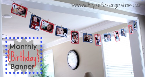 first birthday monthly photo banner ; monthly-birthday-banner-wait-til-your-father-gets-home-photo-birthday-banner