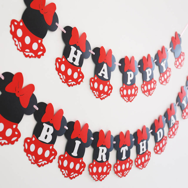 first birthday photo banner ; Minnie-Mouse-banner-Minnie-baby-shower-first-birthday-banner-Minnie-decorations-happy-birthday-decorations