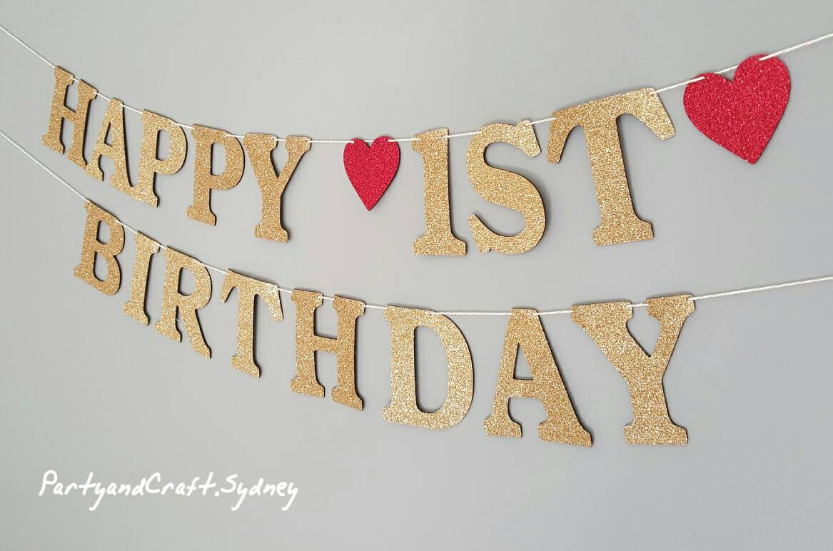 first birthday photo banner ; il_fullxfull