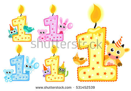 first birthday photo banner template ; stock-vector-set-happy-first-birthday-candle-and-animals-isolated-on-white-background-first-birthday-template-531452539