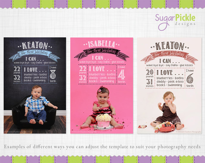 first birthday photo poster ; gallery_hero_il_fullxfull