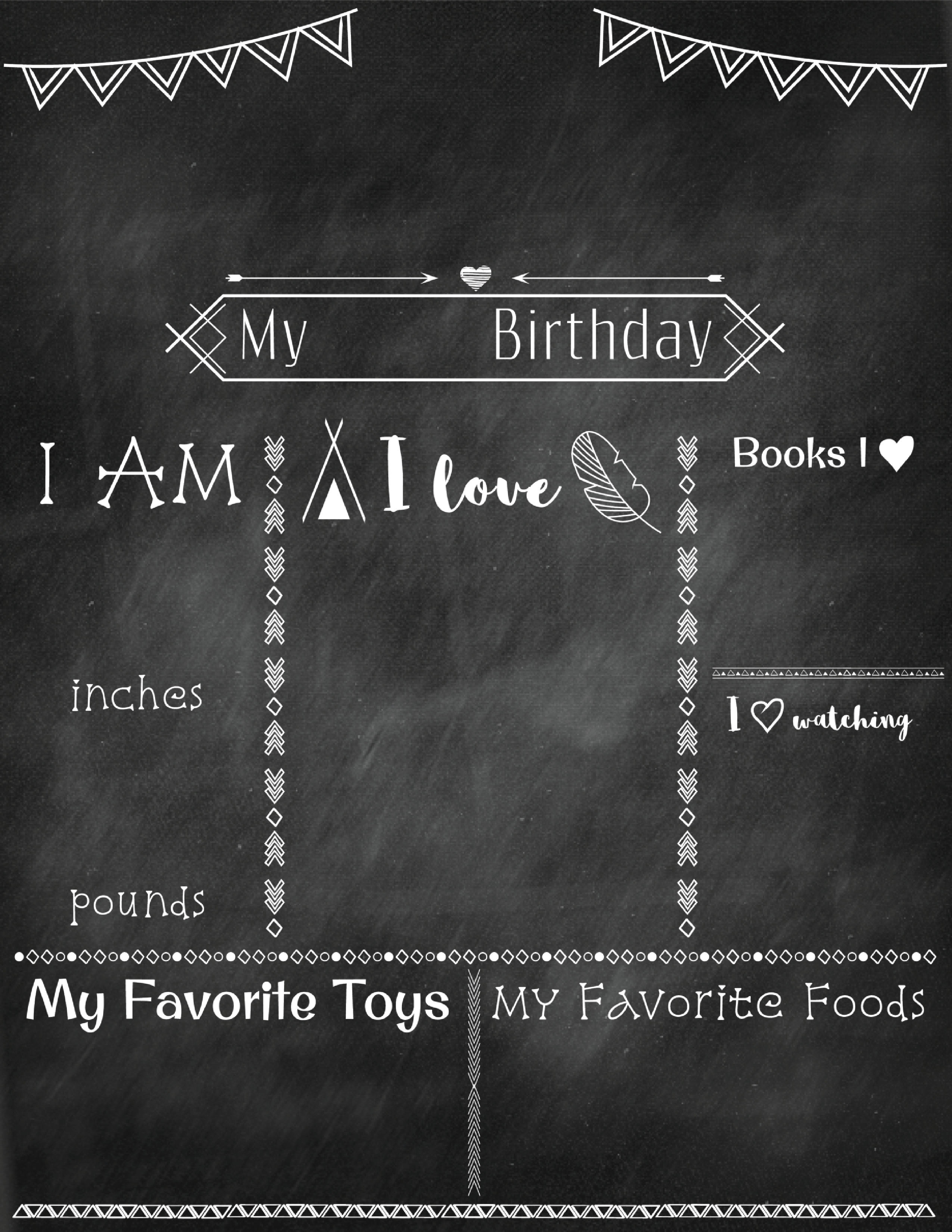 first birthday poster template free ; Birthday-Poster-Chalkboard-Small