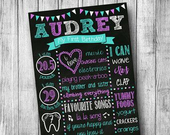 first birthday poster template free ; c51c91b0a0eca42c880452ca5581bc17--birthday-chalk-boards-first-birthday-chalkboard