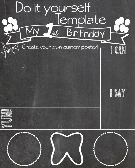 first birthday poster template free ; diy-chalkboard-poster-template