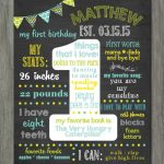 first birthday poster template free ; items-similar-to-first-birthday-chalkboard-poster-first-birthday-1st-birthday-chalkboard-poster-template-150x150