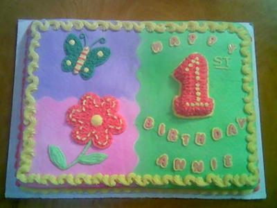 first birthday sheet cake ; colorful-first-birthday-sheet-cake-21319080