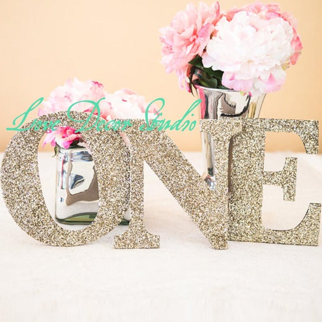 first birthday sign ; ONE-Sign-8-tall-20-wide-First-Birthday-Sign-in-Glitter-Letters-First-Birthday-Princess-Birthday