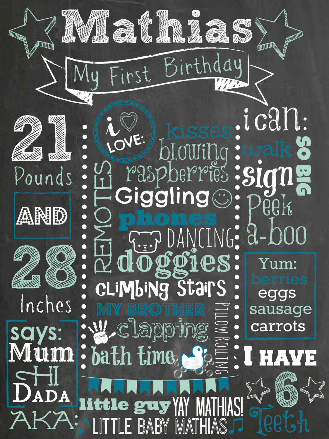 first birthday sign ; il_fullxfull