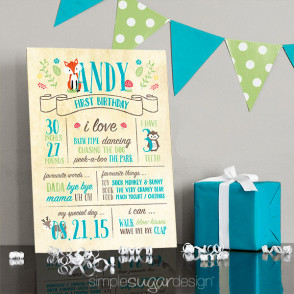 first birthday sign ; woodland_birthday_preview_image-294x294