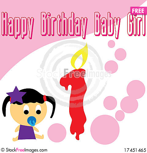 first birthday wallpaper ; Baby-girl-first-birthday-wallpaper-thumb17451465