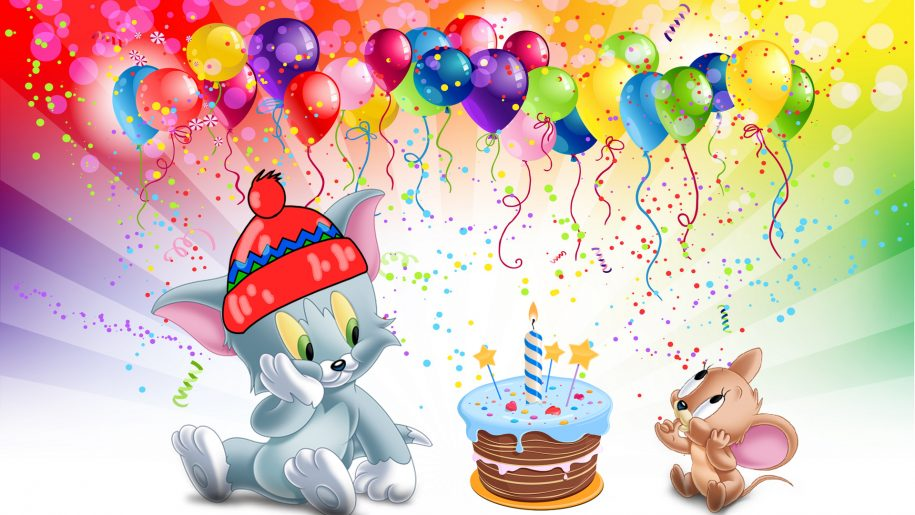 first birthday wallpaper ; Tom-And-Jerry-first-birthday-cake-Desktop-HD-Wallpaper-for-Mobile-phones-Tablet-and-PC-1920x1200-915x515