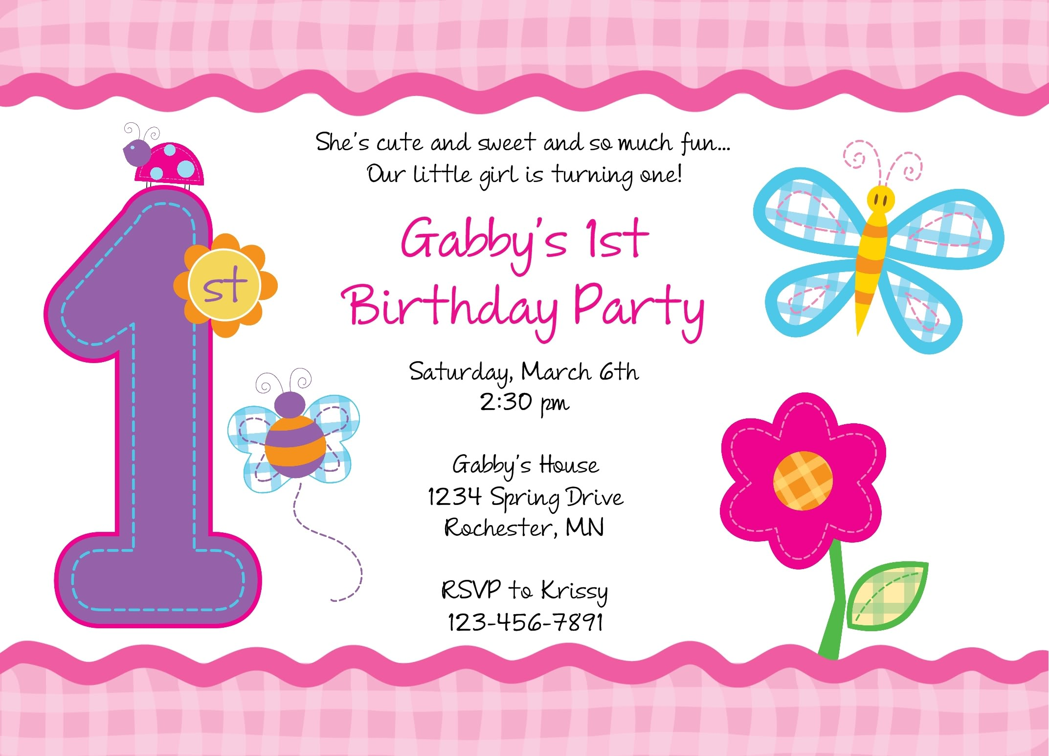 first birthday wallpaper ; first-birthday-party-invitations-templates-free-And-Get-Inspiration-to-Create-a-Nice-Invitation-2