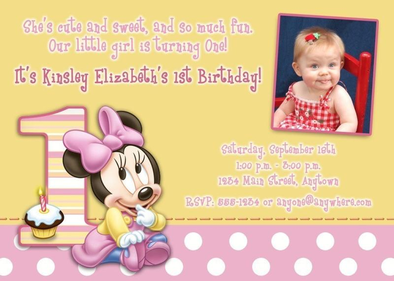 first birthday wallpaper ; personalized-minnie-mouse-first-birthday-invitations-birthday-invites-remarkable-minnie-mouse-first-birthday