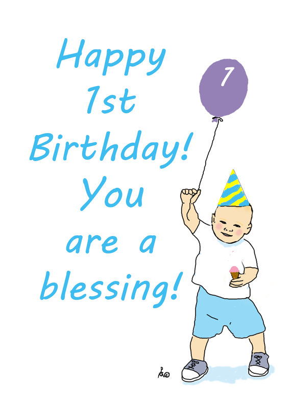 first birthday wishes greeting cards ; il_570xN