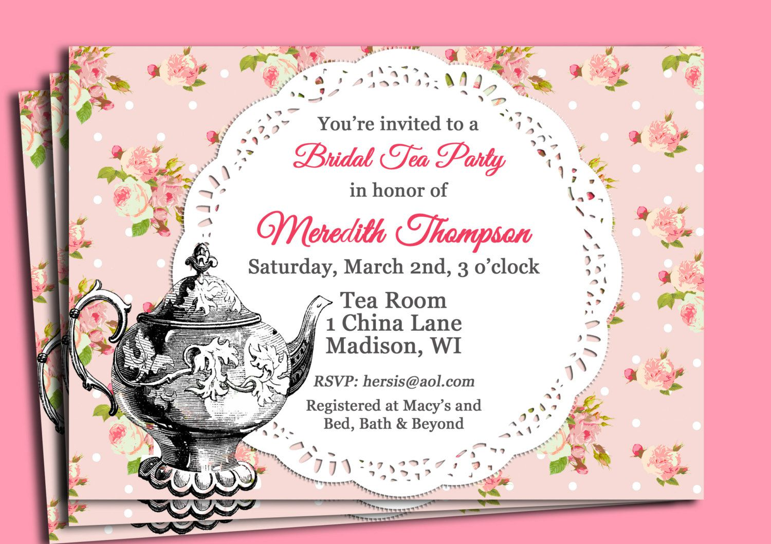 flower themed birthday party invitation wording ; bridal-shower-tea-party-invitation-sayings