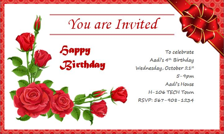 free 21st birthday invitation cards design ; best-sample-free-birthday-invitation-cards-modern-ideas-designing-template-collection-gifts-red-rose-ribbon