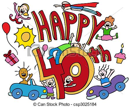 free 40th birthday clipart images ; happy-40th-eps-vector_csp3025184