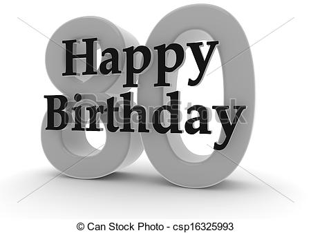 free 80th birthday clipart ; happy-birthday-for-80th-birthday-drawings_csp16325993