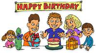 free animated happy birthday clipart ; Happy-birthday-free-birthday-clipart-animations-198x109